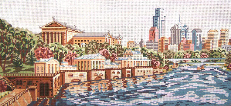 click here to view larger image of Philidelphia Museum of Art and Water Works (hand painted canvases)