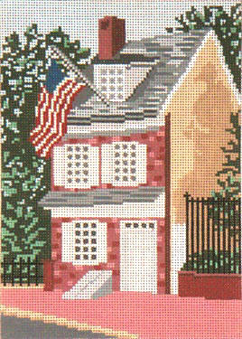 click here to view larger image of Betsy Ross House (Philidelphia) - 13ct (hand painted canvases)