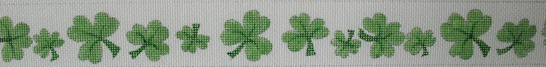 click here to view larger image of Shamrock Belt (hand painted canvases)