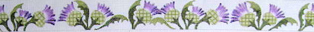 click here to view larger image of Thistle Belt (hand painted canvases)
