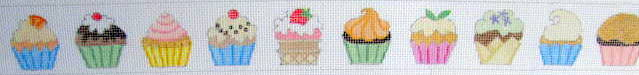 click here to view larger image of Cupcakes Belt (hand painted canvases)