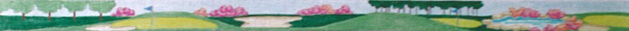 click here to view larger image of Golf Hole Floral Belt (hand painted canvases)