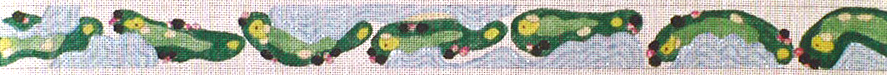 click here to view larger image of Golf Course From Above Belt (hand painted canvases)