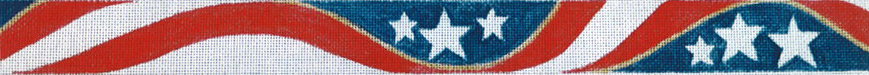 click here to view larger image of Stars and Stripes Belt (hand painted canvases)