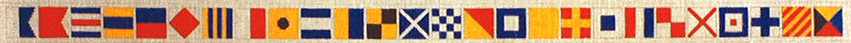 click here to view larger image of Signal Flag Alphabet Belt (hand painted canvases)