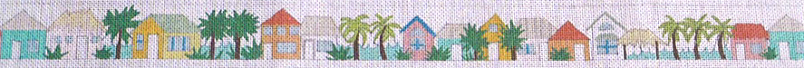 click here to view larger image of Tropical Town Belt (hand painted canvases)