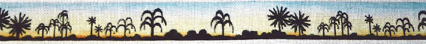 click here to view larger image of Sunset Silhouette Belt (hand painted canvases)