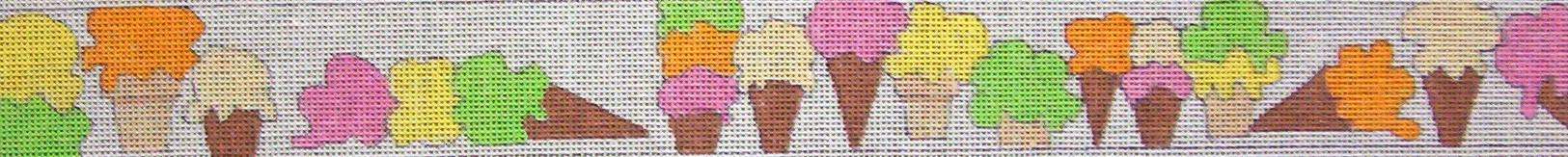 click here to view larger image of Sherbet Cones Belt (hand painted canvases)