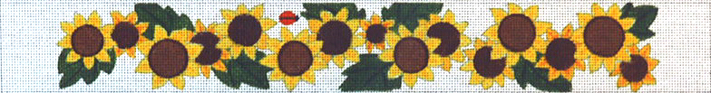 click here to view larger image of Sunflowers Belt (hand painted canvases)