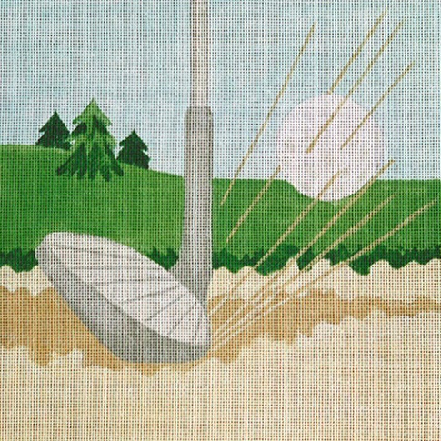 click here to view larger image of Sand Wedge Coaster (hand painted canvases)