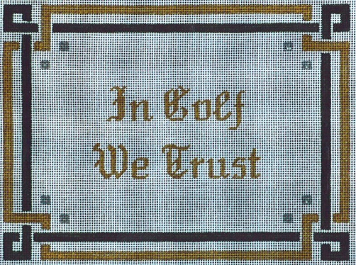 click here to view larger image of In Golf We Trust (hand painted canvases)