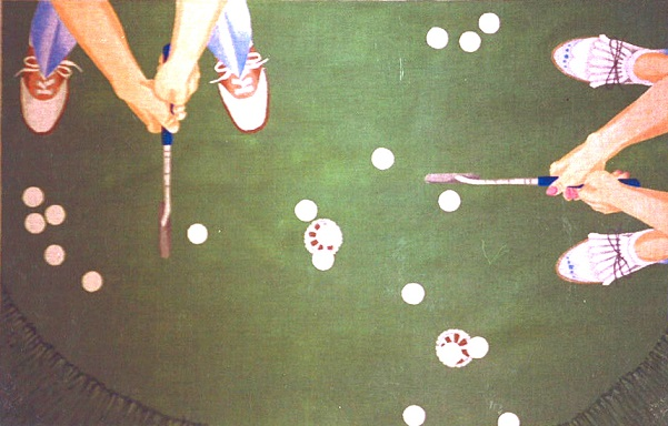 click here to view larger image of Putting Practice Rug (hand painted canvases)