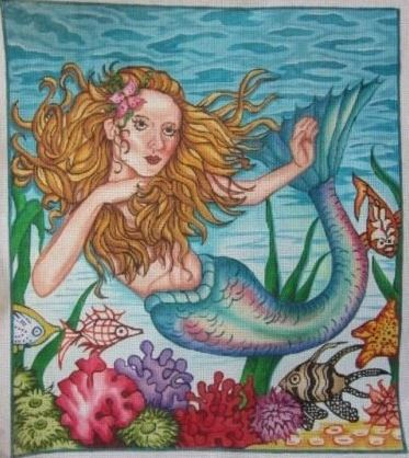 click here to view larger image of Mermaid Special (hand painted canvases)
