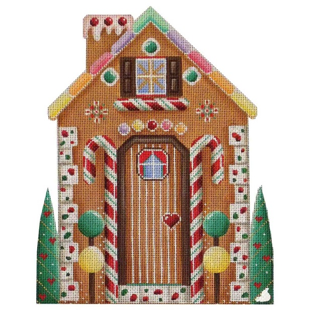 click here to view larger image of Gingerbread House Front (hand painted canvases)
