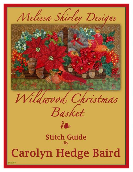 click here to view larger image of Wildwood Christmas Basket - Stitch Guide (books)