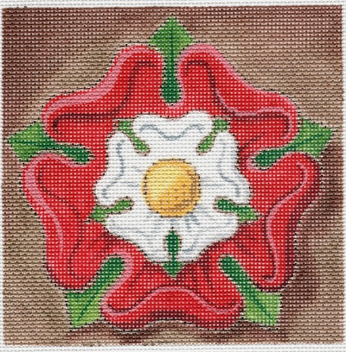 click here to view larger image of Tudor Rose (hand painted canvases)
