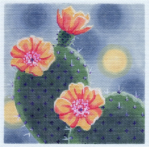 click here to view larger image of Cactus In Bloom (hand painted canvases)