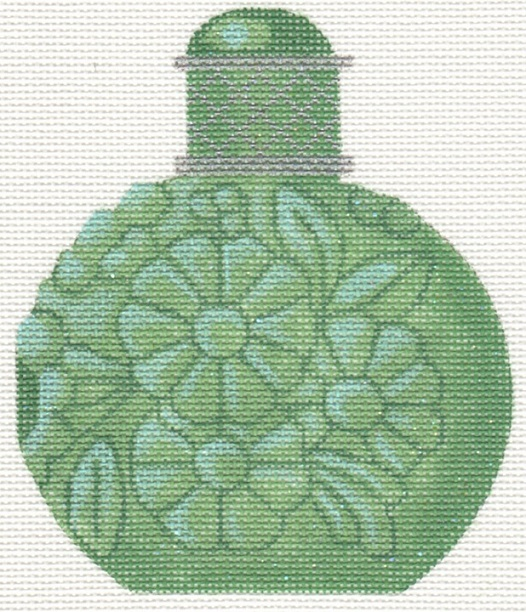 click here to view larger image of Jade Perfume Bottle (hand painted canvases)