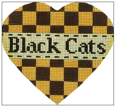 click here to view larger image of Black Cats Heart (hand painted canvases)