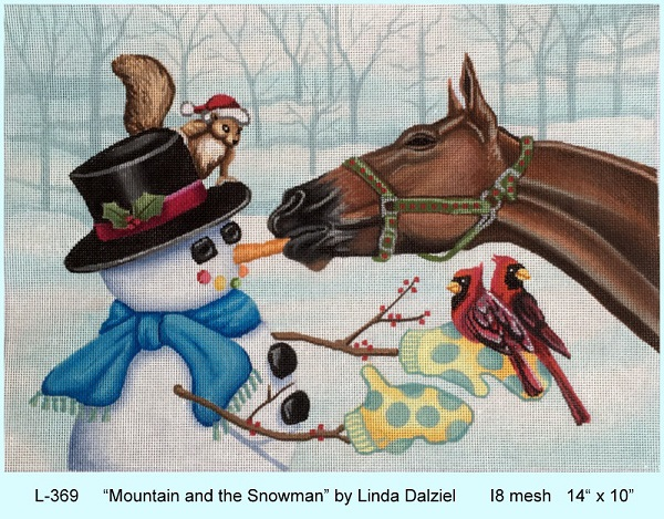 click here to view larger image of Mountain And The Snowman (hand painted canvases)