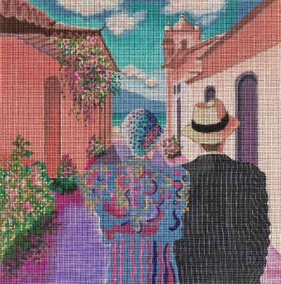 click here to view larger image of Couple Walking (hand painted canvases)