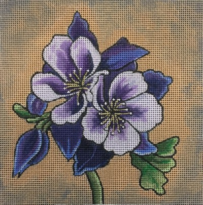click here to view larger image of Purple Columbine (hand painted canvases)
