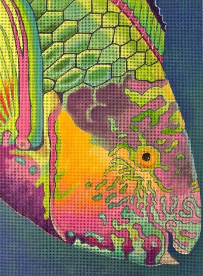 click here to view larger image of Surf Parrotfish (hand painted canvases)