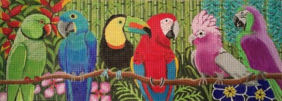 click here to view larger image of Rainforest Roost (hand painted canvases)