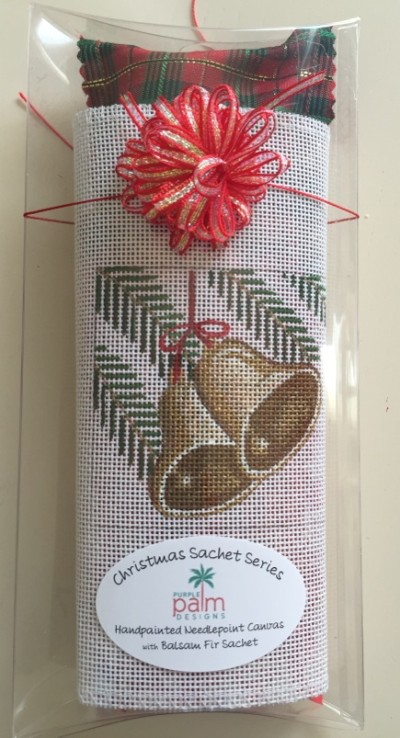 click here to view larger image of Bells Sachet (hand painted canvases)