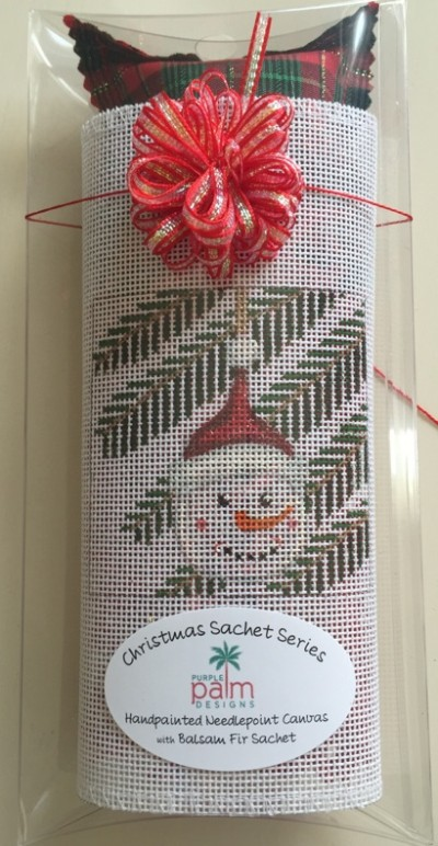 click here to view larger image of Snowman Sachet (hand painted canvases)