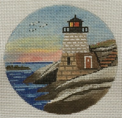 click here to view larger image of Castle Hill Light Ornament (hand painted canvases)