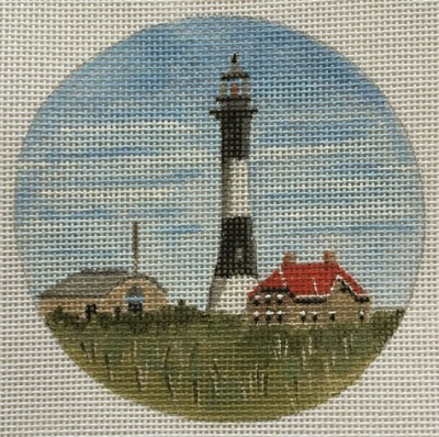 click here to view larger image of Fire Island Light Ornament (hand painted canvases)