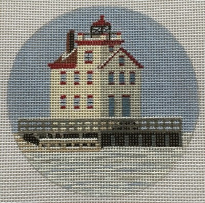 click here to view larger image of Lorain Light Ornament (hand painted canvases)
