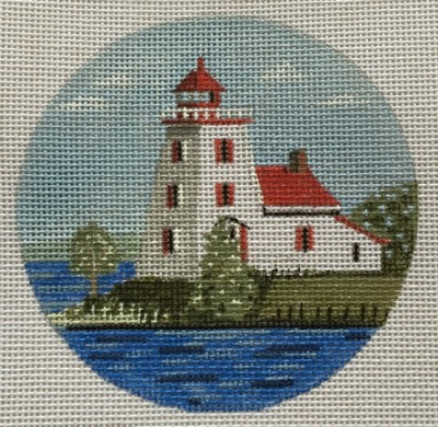 click here to view larger image of Strawberry Island Light Ornament (hand painted canvases)