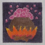click here to view larger image of Cauldron with Pink Bubbles (hand painted canvases)