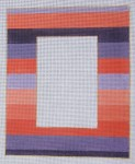 click here to view larger image of Photo Frame - Purple and Coral Stripe (hand painted canvases)