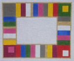 click here to view larger image of Photo Frame - Colorful Stripe 1 (hand painted canvases)
