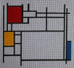 click here to view larger image of Photo Frame - Mondrian (hand painted canvases)