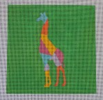 click here to view larger image of Animal Silhouette - Giraffe (hand painted canvases)