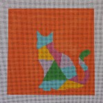 click here to view larger image of Animal Silhouette - Cat (hand painted canvases)