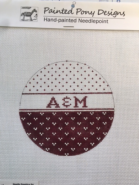 click here to view larger image of Texas A & M Ornament (hand painted canvases)