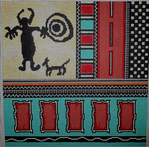 click here to view larger image of Rock Art II (hand painted canvases)