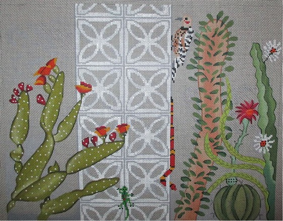 click here to view larger image of Desert Fauna (hand painted canvases)