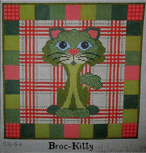 click here to view larger image of Broc-Kitty - 13ct (hand painted canvases)