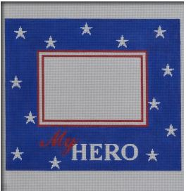 click here to view larger image of My Hero Frame - Horizontal (hand painted canvases)