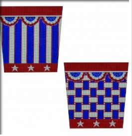 click here to view larger image of Patriotic Basket (hand painted canvases)