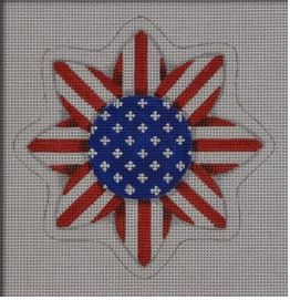 click here to view larger image of Patriotic Sunflower (hand painted canvases)