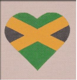 click here to view larger image of Jamaican Flag Heart (hand painted canvases)