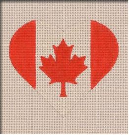 click here to view larger image of Canadian Flag Heart (hand painted canvases)