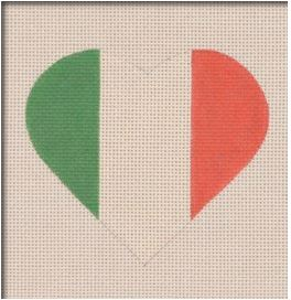 click here to view larger image of Italian Flag Heart (hand painted canvases)